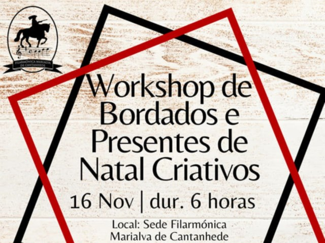 Workshop de bordados e presentes de Natal criativo