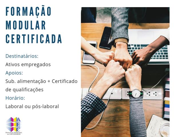 Formação Modular Certificada - Co-financiada